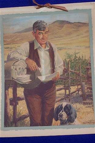 Advertising Calendar - Will Rogers, 1954