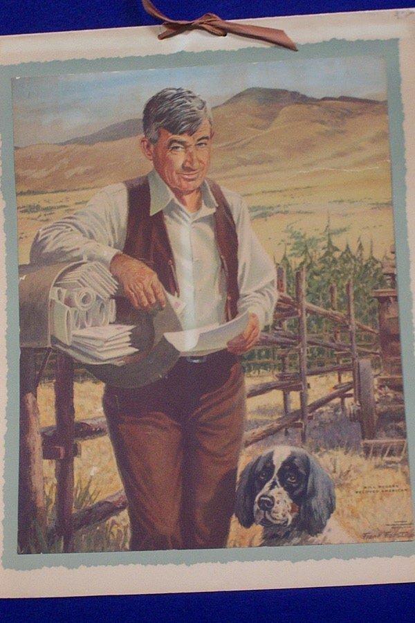 5: Advertising Calendar - Will Rogers, 1954