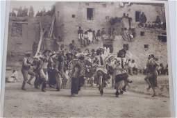 303: Photogravure, Curtis - Buffalo Dance at Hano