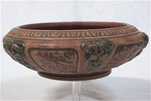 Roseville Pottery 1924 Florentine Bowl - 8 1/2in