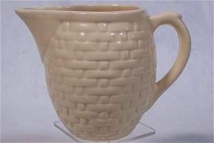 Weller Pottery - Basket Weave Pitcher