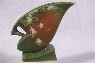 Roseville Pottery Pillow Vase, Snowberry, 1946