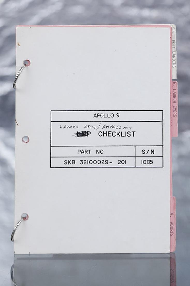 "Apollo 9 Checklist ""Launch and Abort"" by Mc Divitt /"