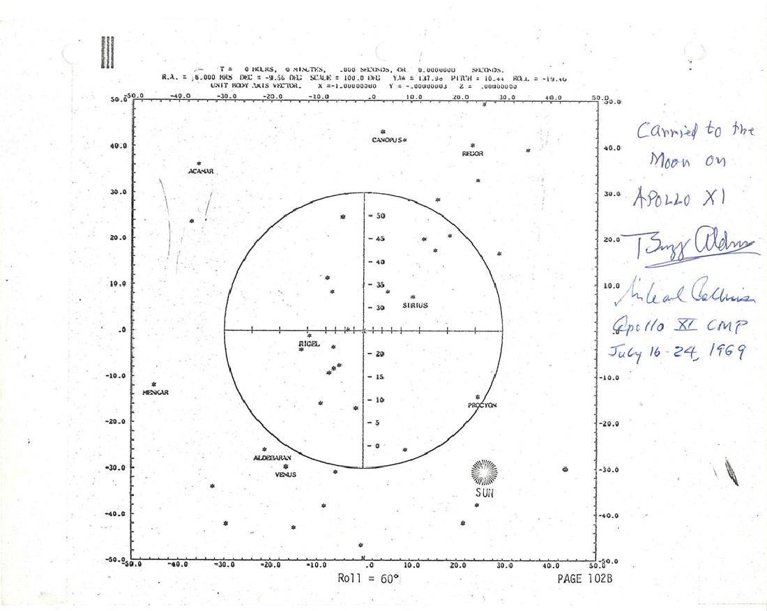"""Apollo 11 Starmap - """"Carried to the Moon"""" The Apollo 11"""