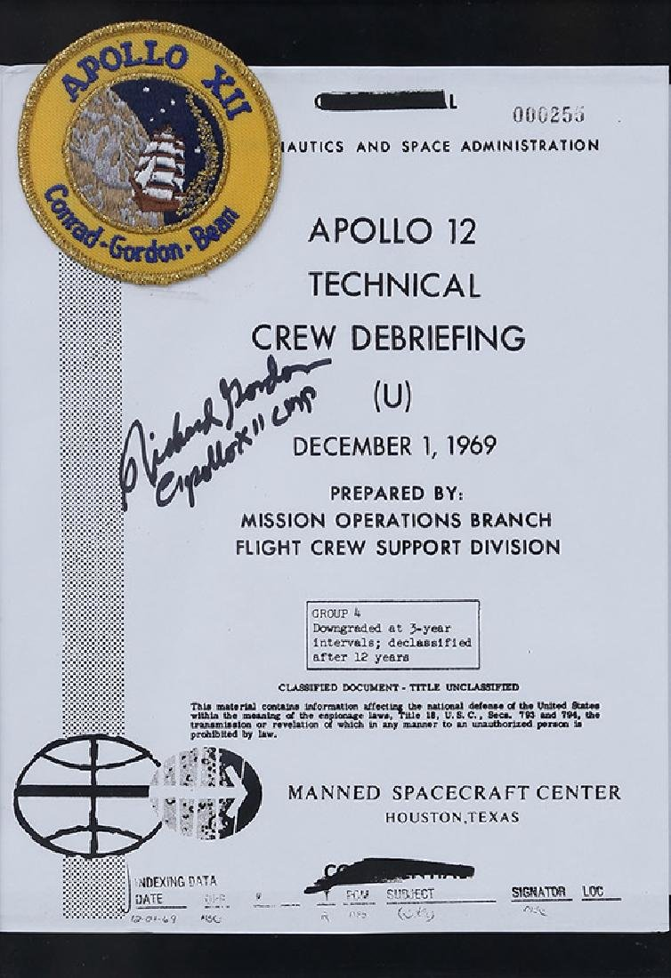 Apollo 12 - Copy of the first page of the manual