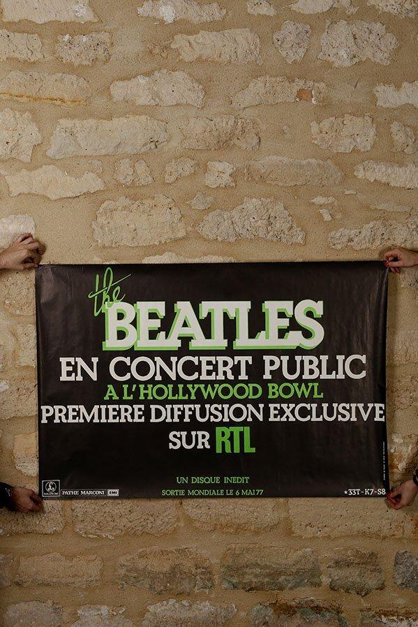 Tres rare affiche, The Beatles 1977