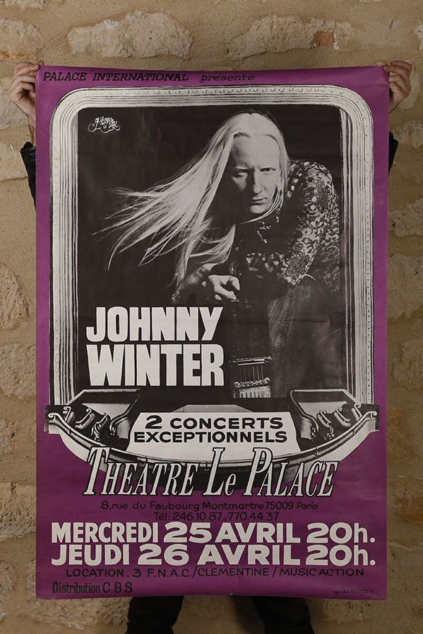 Rare affiche, Johnny Winter 1979