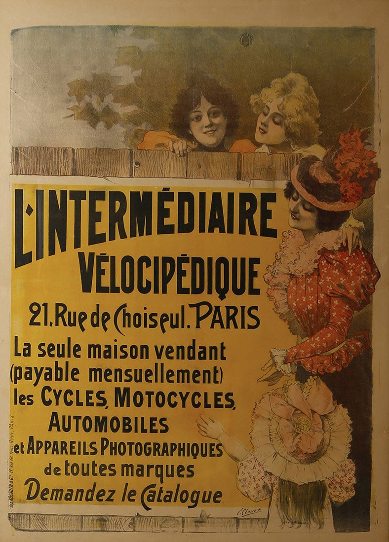 Ernest Clouet L'Intermediaire Velocipedique Circa 1896