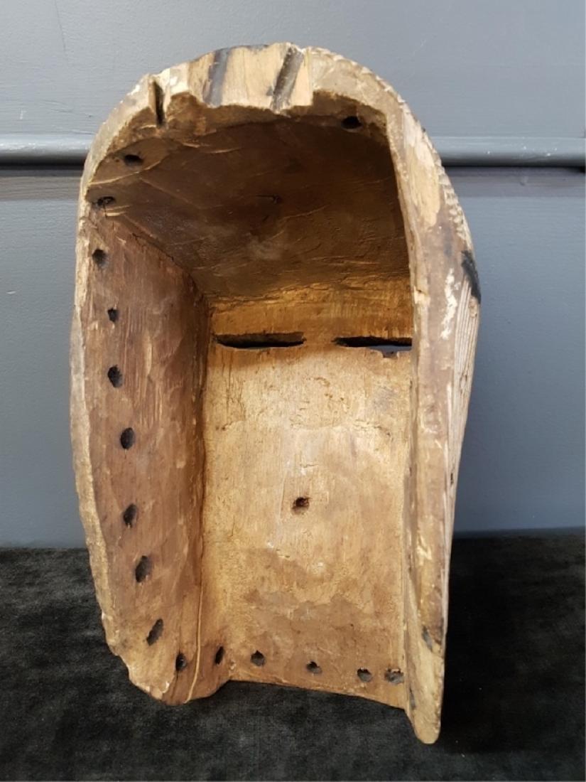 Vintage African Carved Mask - 3