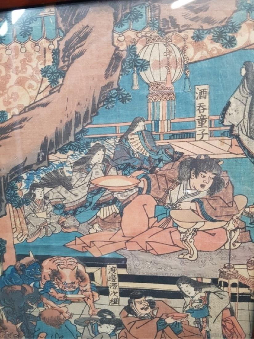 Japanese Woodblock Print with Demons - 3