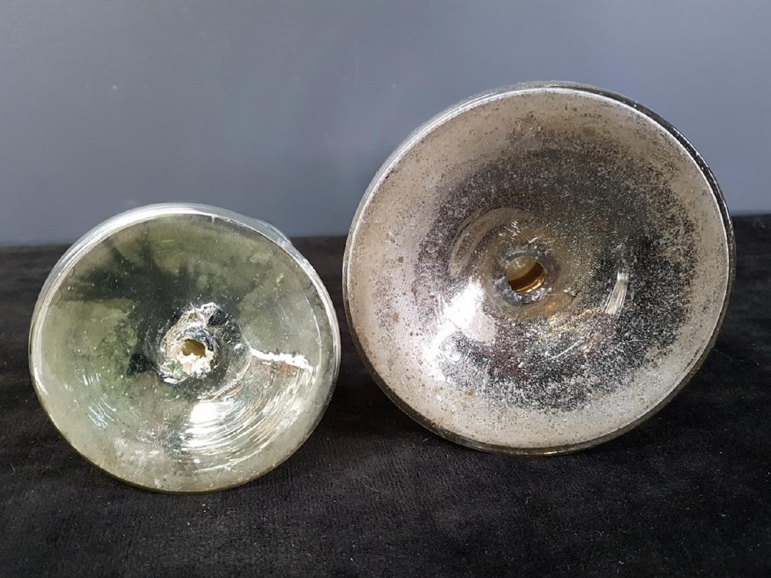 Lot of Two Mercury Glass Candlesticks - 3