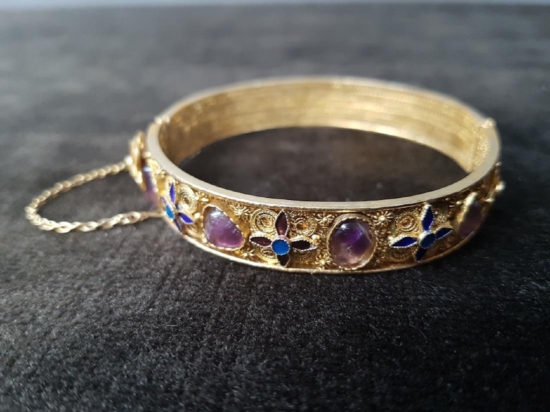 Export Chinese Gilt Silver Filigree Bracelet