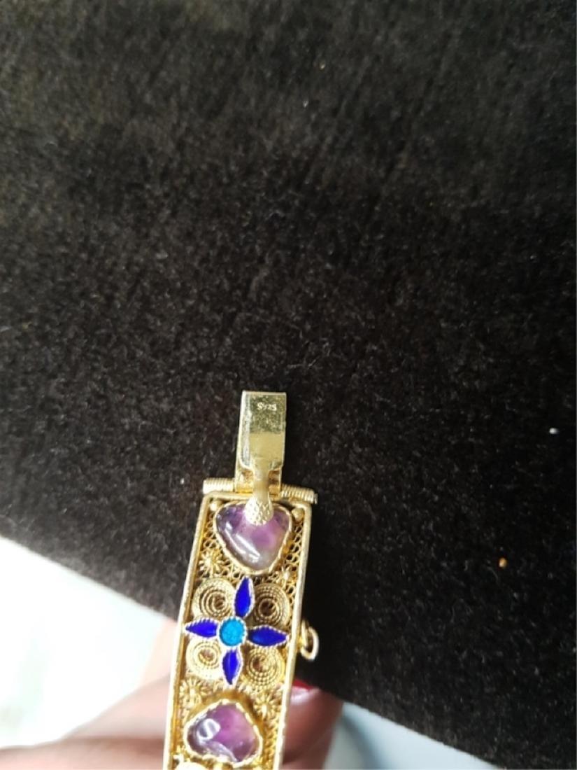 Export Chinese Gilt Silver Filigree Bracelet - 3