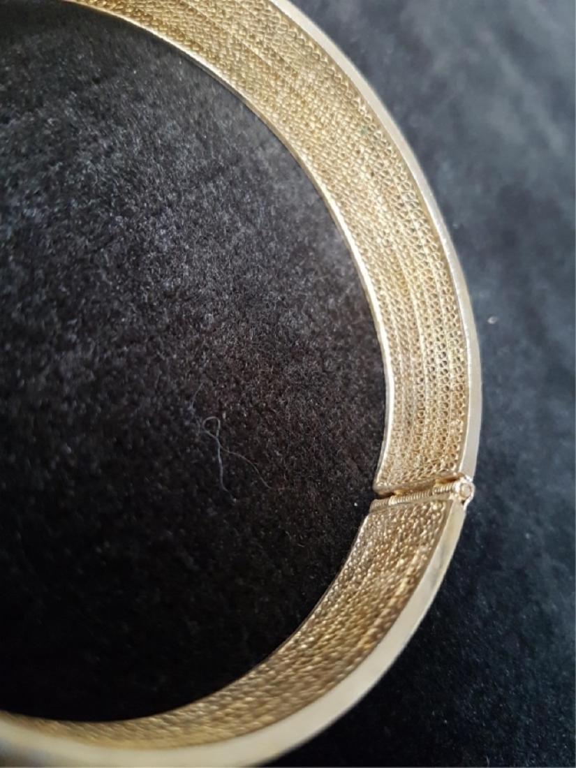 Export Chinese Gilt Silver Filigree Bracelet - 4