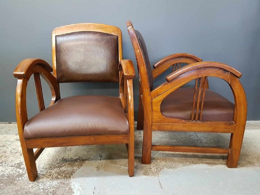 Pair of Art Deco Style Club Chairs - 2