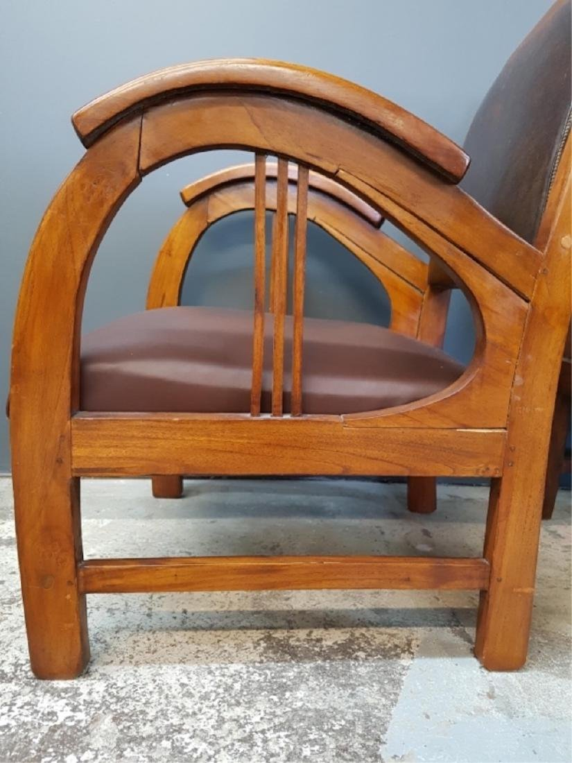 Pair of Art Deco Style Club Chairs - 4