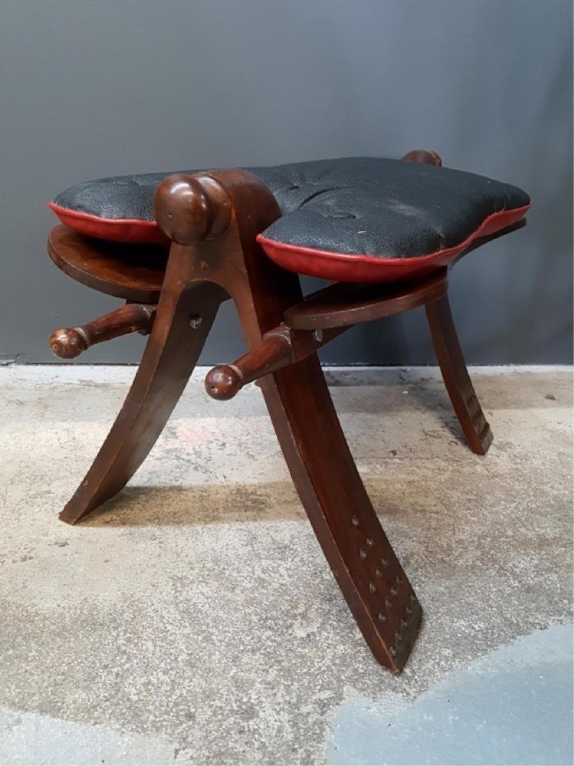 Vintage Camel Saddle Stool - 4