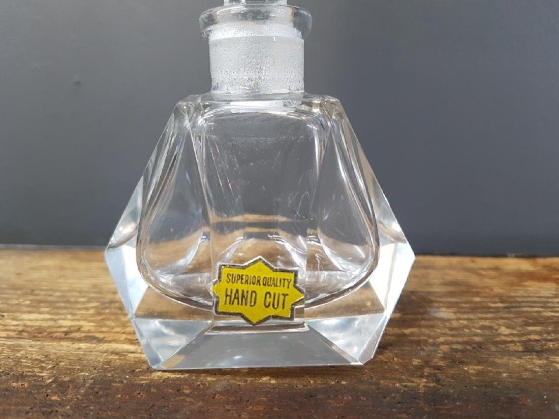 Vintage Crystal Pagoda Perfume Bottle - 2