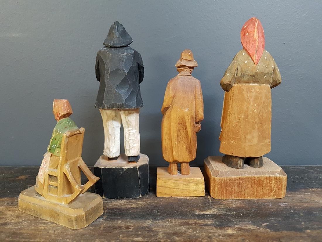 Lot of Carved Handpainted Folk Art Figurines - 2