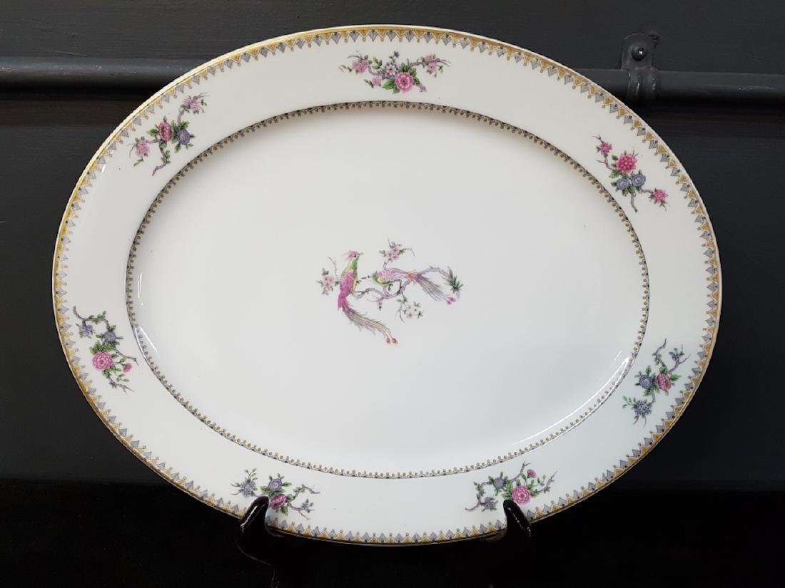 Large Limoges Elite Works Pheasants Serving Dish
