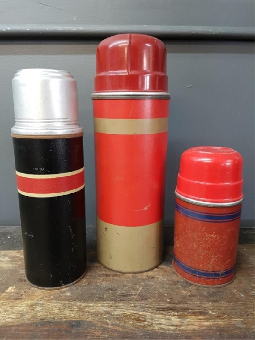 Lot of Three Assorted Vacuum Bottles