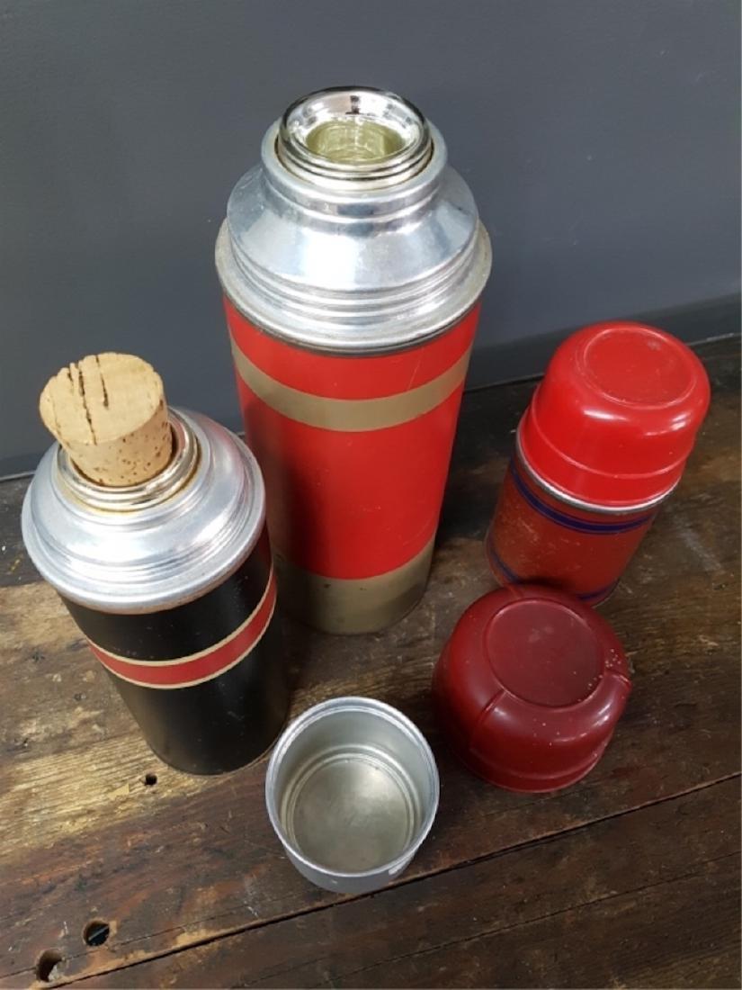 Lot of Three Assorted Vacuum Bottles - 3