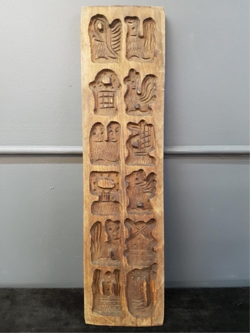 Antique Carved Figural Folk Art Mold