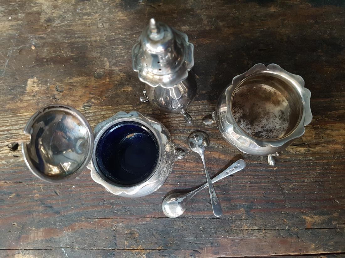 Set of 3 Victorian Silver Hallmarked Condiments - 2