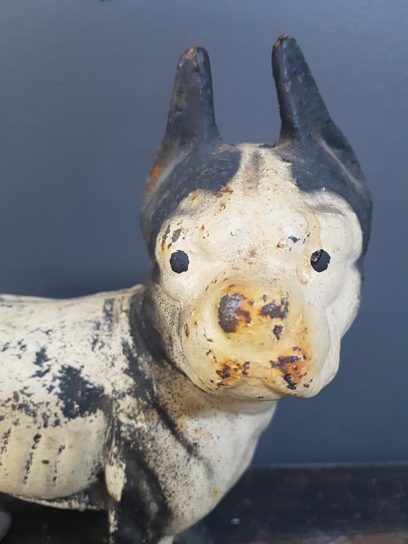 Antique Cast Iron Painted Boston Terrier Door Stop - 2
