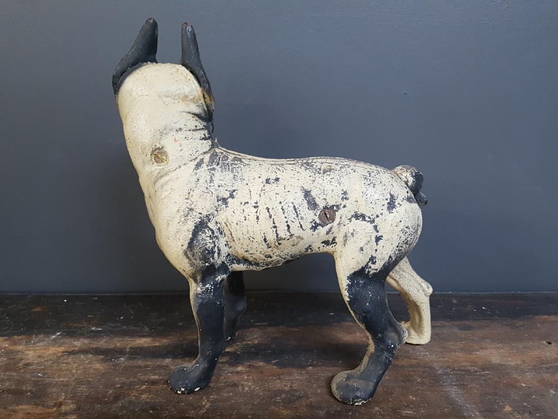 Antique Cast Iron Painted Boston Terrier Door Stop - 3