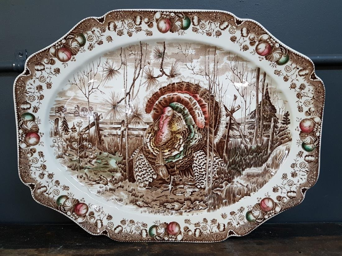 "Large Johnson Bros Turkey Charger ""His Majesty"""