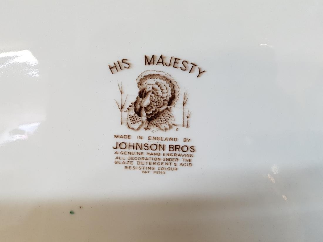 "Large Johnson Bros Turkey Charger ""His Majesty"" - 3"