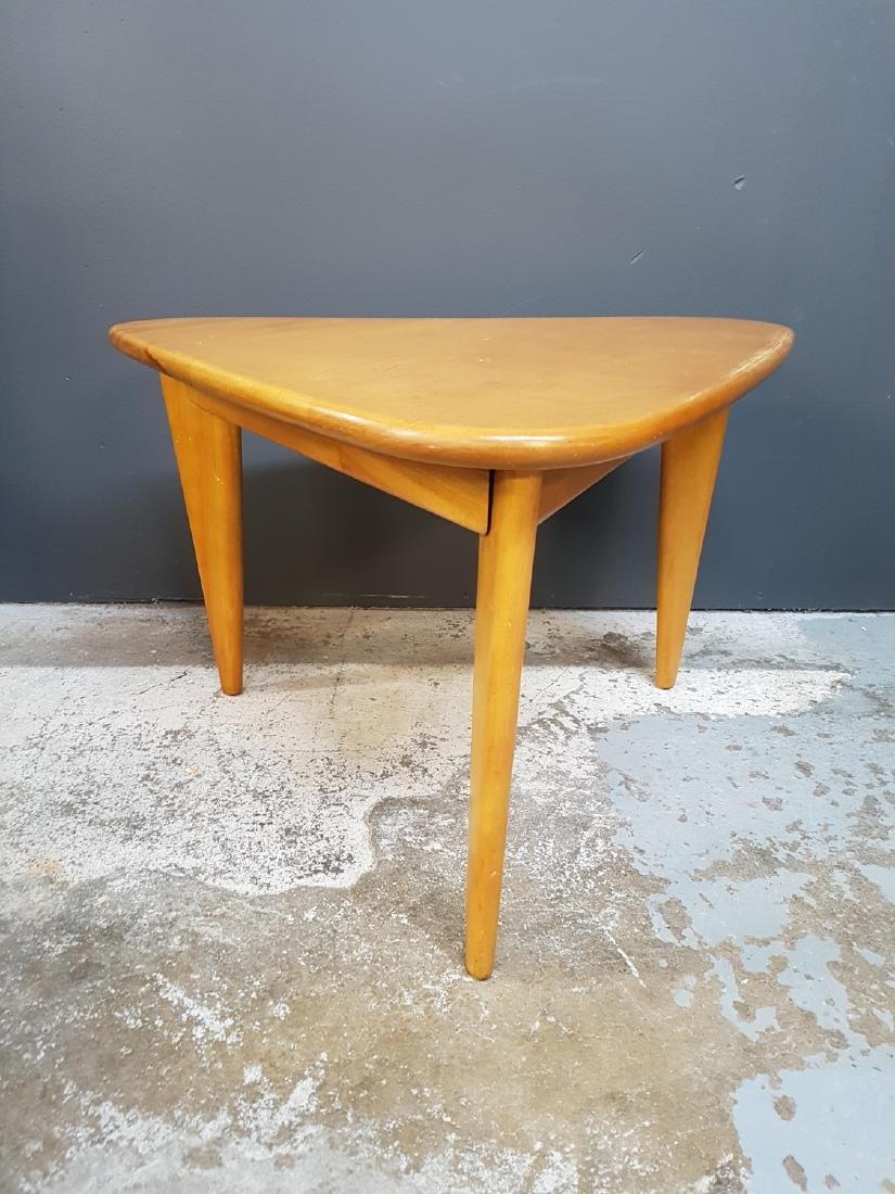 Vintage Triangular Canadian Maple Coffee Table
