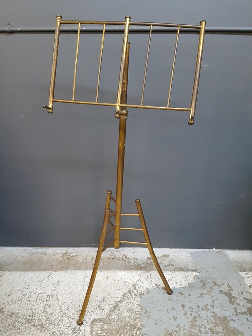 Antique Vintage Brass Lectern, Music Stand