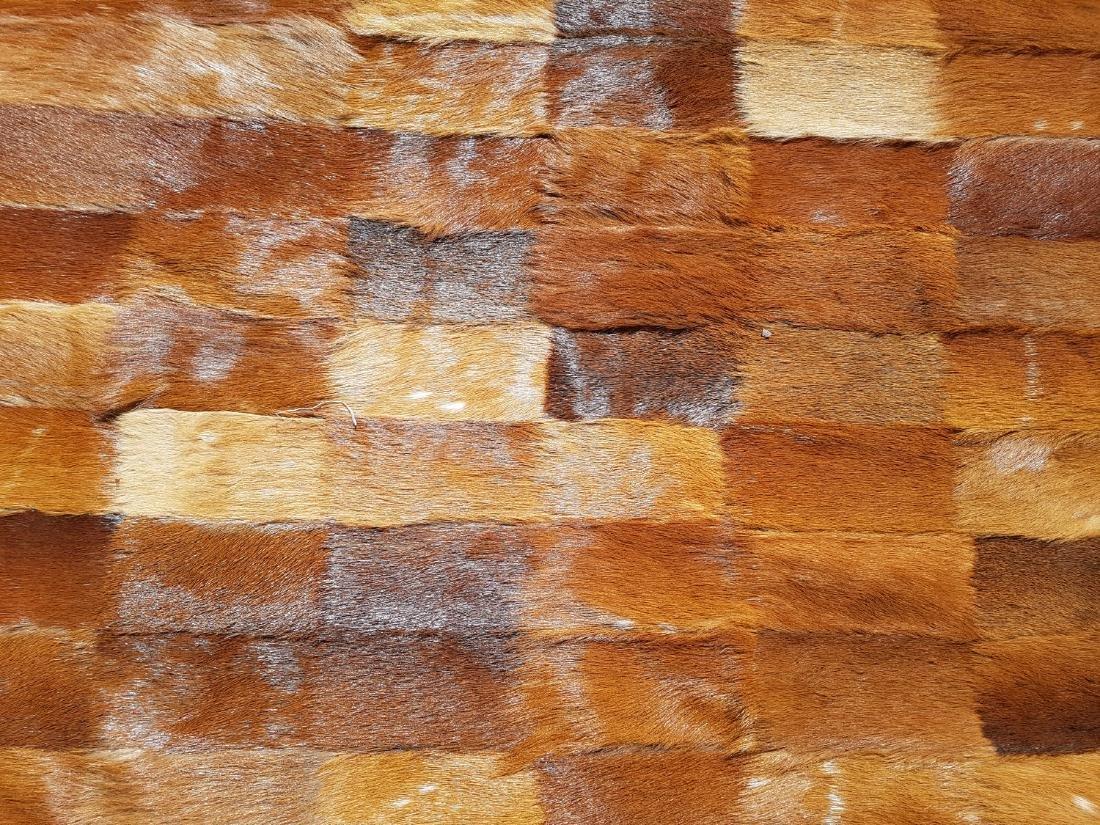 Vintage Antelope Fur Patch Quilt, Rug