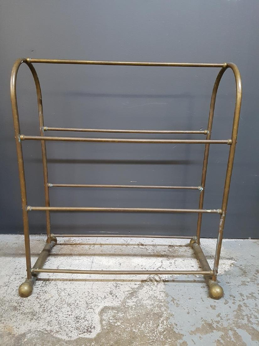 Vintage Brass Blanket Stand, Century Exclusive