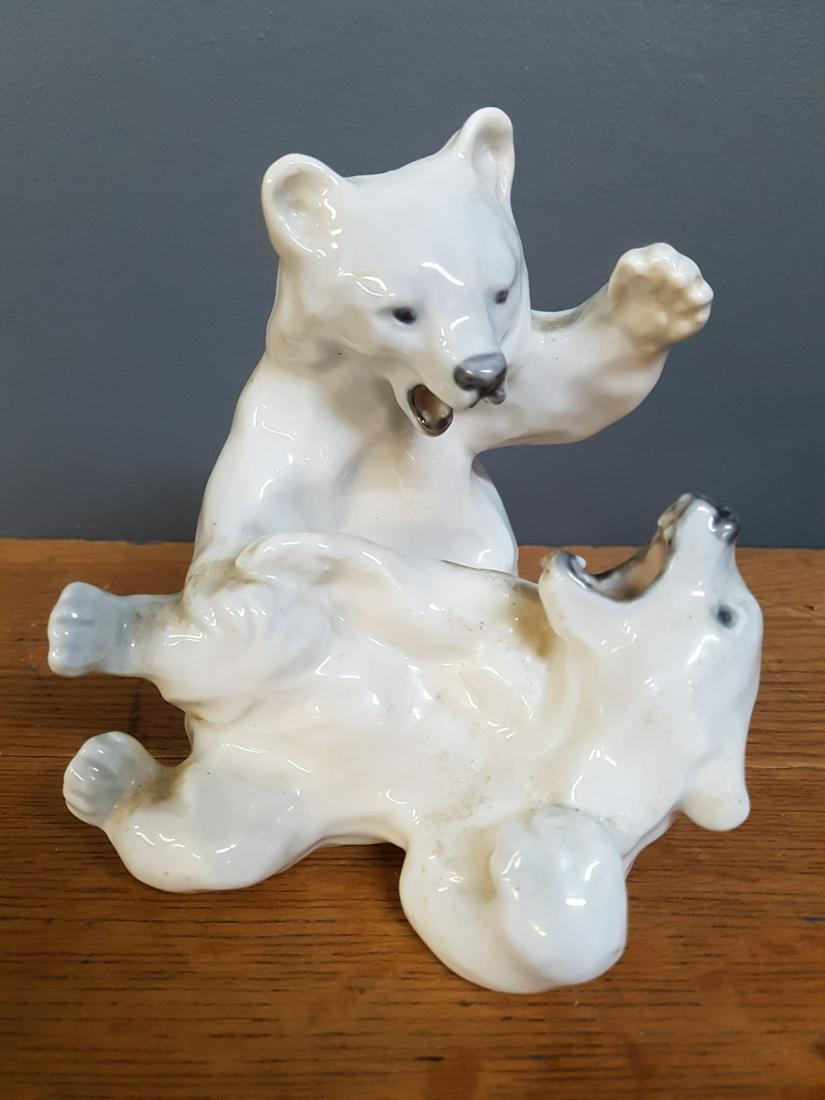 Vintage Royal Copenhagen Figurine Two Polar Bears
