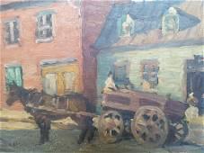 Jack Beder (canada 1910-1987) Oil On Board