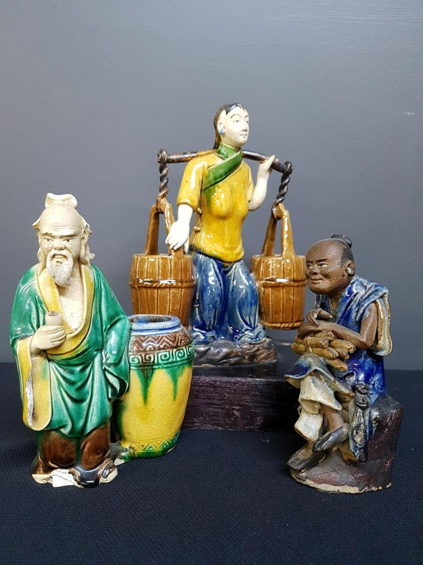 Lot of 3 Chinese Pottery Figures