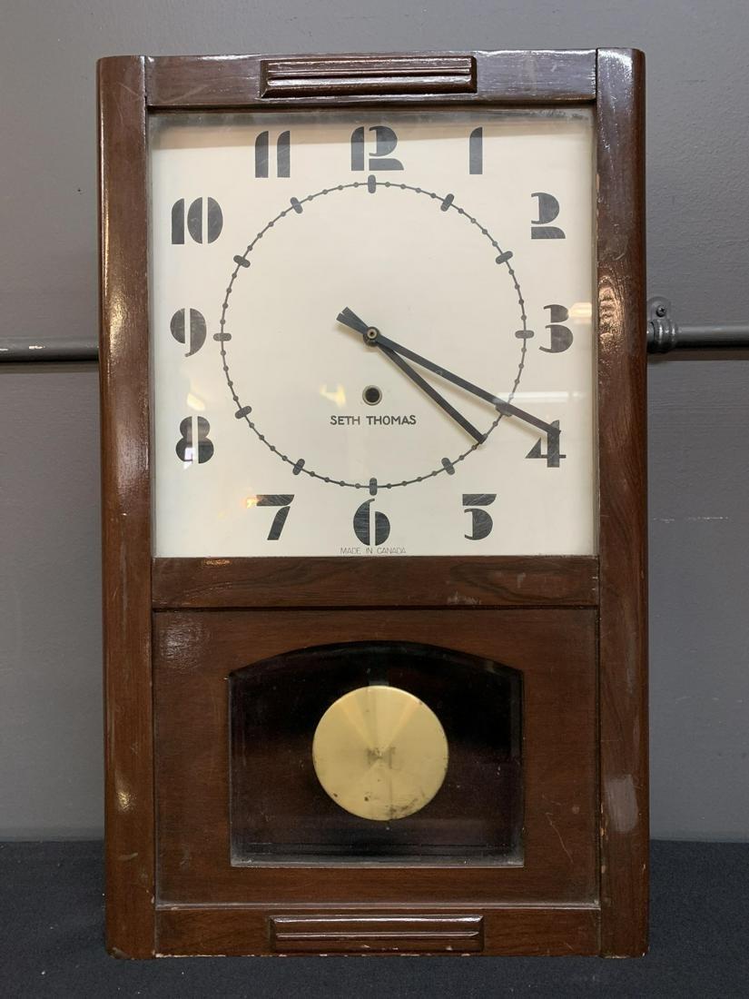 Art Deco Seth Thomas Regulator Style Clock