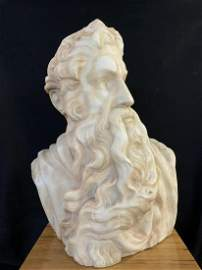 Mid 19th C. Marble Bust After Michelangelo