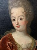 18th C. Portrait of a Lady, Oil on Canvas