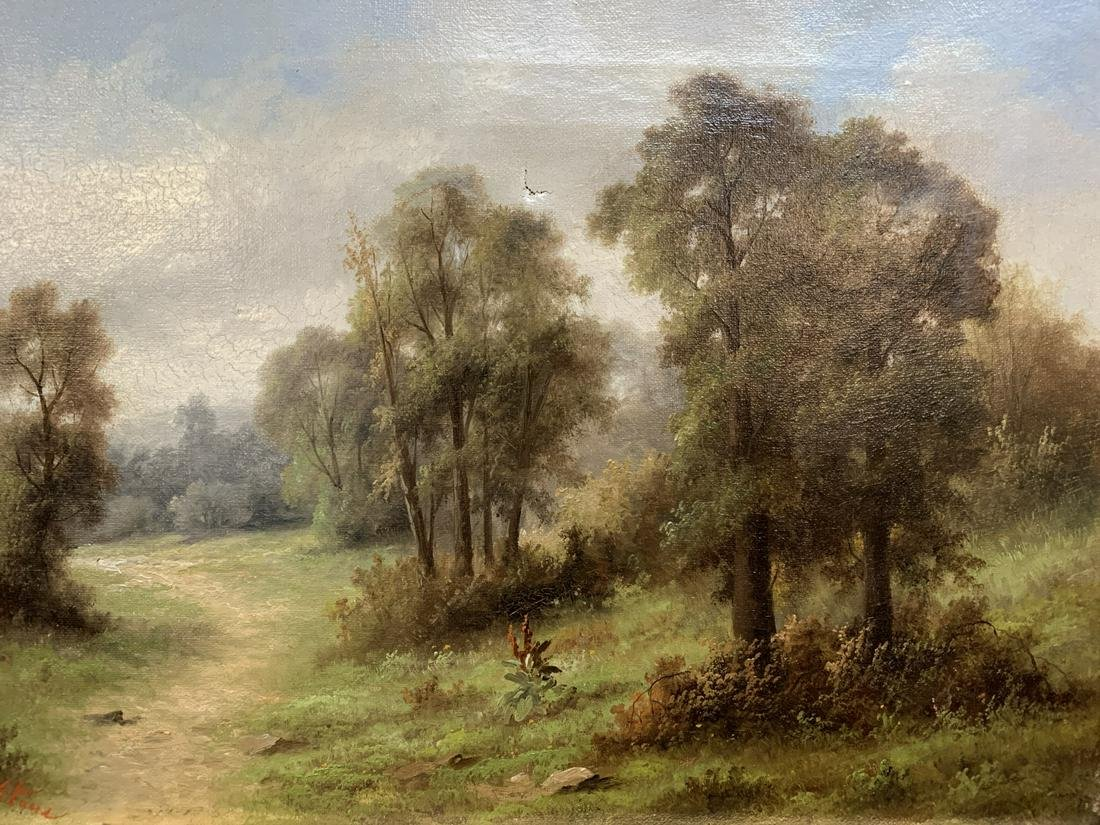 Alfred Stone Oil on Canvas Pastoral Scene