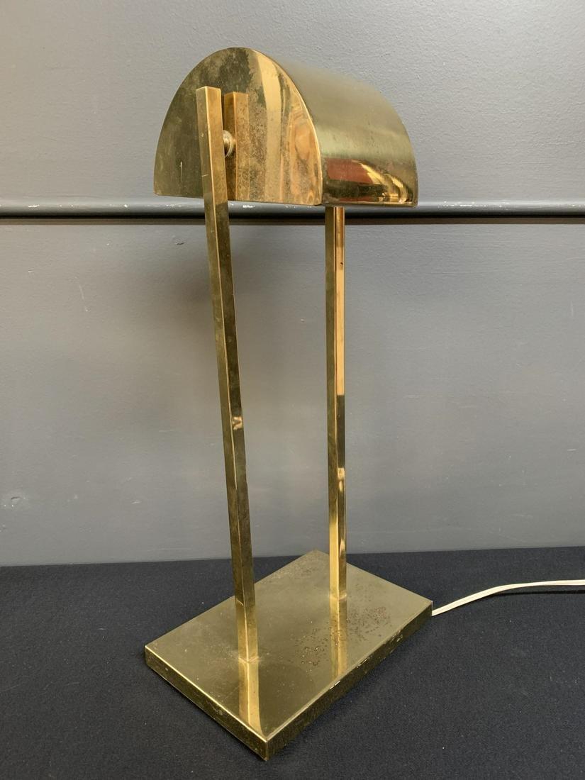 Koch Lowy Modernist Brass Adjustable Table Lamp