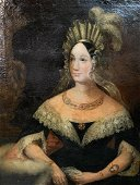 18th C. Oil on Canvas, Portrait of a Noblewoman