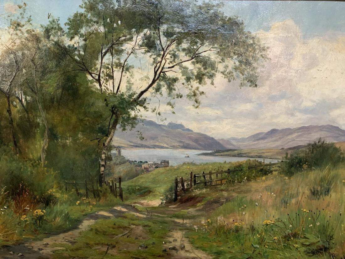 Peter Buchanan, Oil on Canvas, Pastoral Landscape