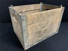 Vintage Wood Milk Crate, Cremerie St Eustache
