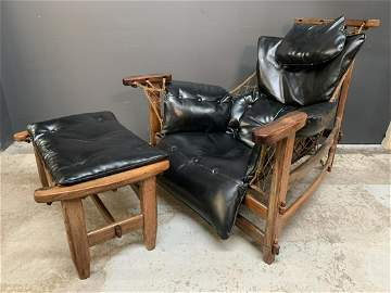 1960s MCM Jean Gillon Lounge Chair and Ottoman