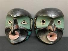 2 Northwest Coast Carved Masks Lloyd Wadhams Sr