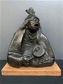 Allan Houser Bronze Sculpture, War Song 1987
